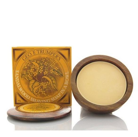 Sandalwood Shaving Soap Wooden Bowl