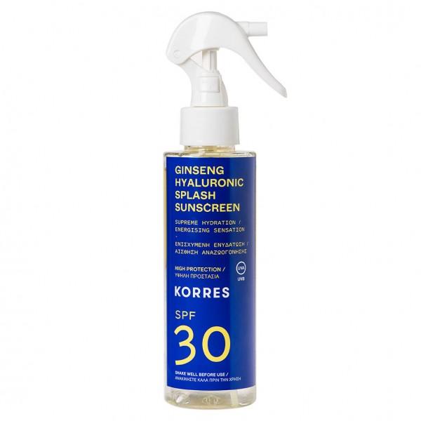GINSENG HYALURONIC SPLASH SPF 30 2-Phasen-Sonnenschutzspray für Gesicht und Körper