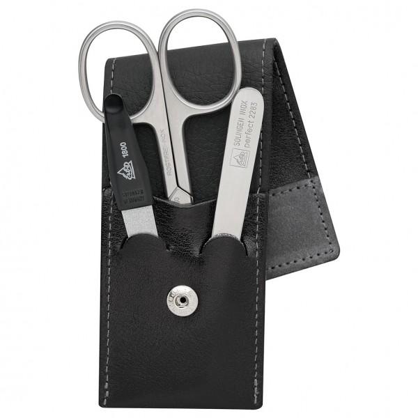 """Maniküre Set Taschen-Etui Serie """"Stone"""", schwarz-grau, 3-tlg."""