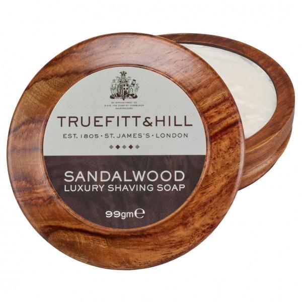 Sandalwood Luxury Shaving Soap in Wooden Bowl