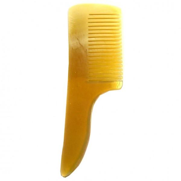 Bartkamm Horn 8 cm mit Griff