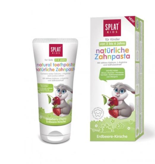 Natürliche Zahnpasta für Kinder Erdbeere-Kirsche