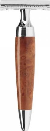 STYLO Rasierhobel geschlossener Kamm, Griffmaterial Thujamaser-Holz