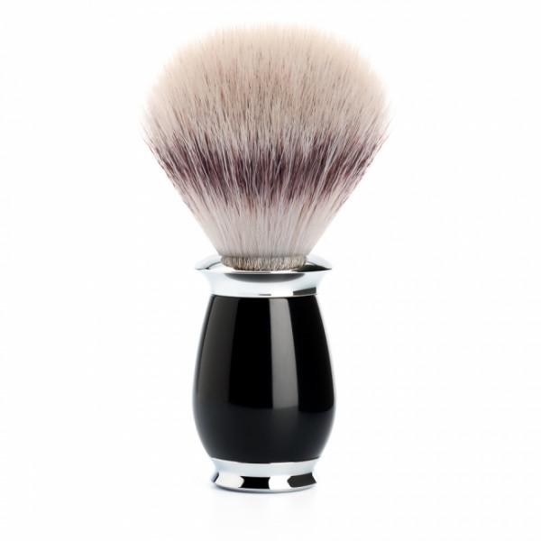 PURIST Rasierpinsel Silvertip Fibre® Griffmaterial Edelharz schwarz