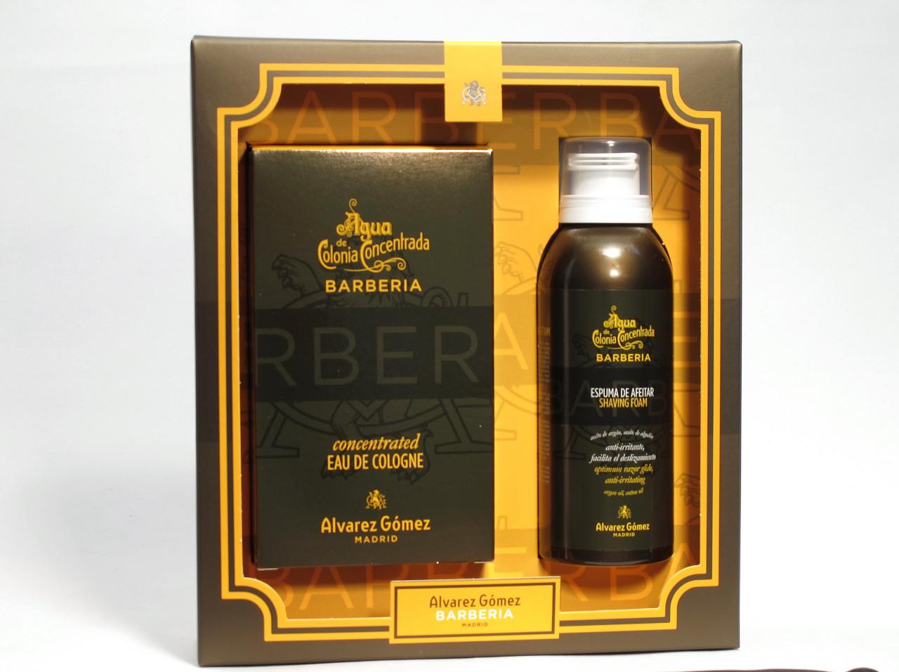 Alvarez Gomez Haar- & Bartpflege Barberia Geschenkset Concentrated Eau de Cologne Spray 150 ml + Shaving Foam 150 ml 1 Stk.