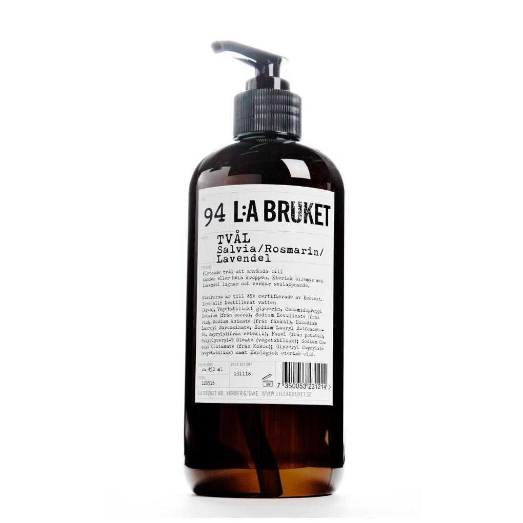 La Bruket Körperpflege Seifen Nr. 094 Liquid Soap Sage/Rosemary/Lavender