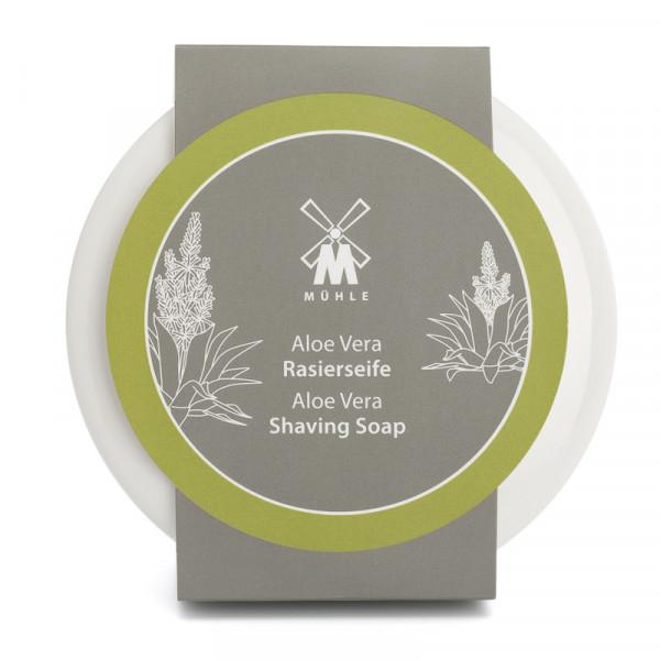 Rasierseife Aloe Vera in Porzellanschale