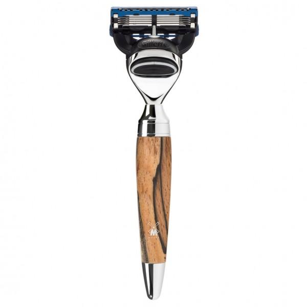 Stylo 5-Klingen-Rasierer, Gillette® Fusion™, Griff Gestockte Buche