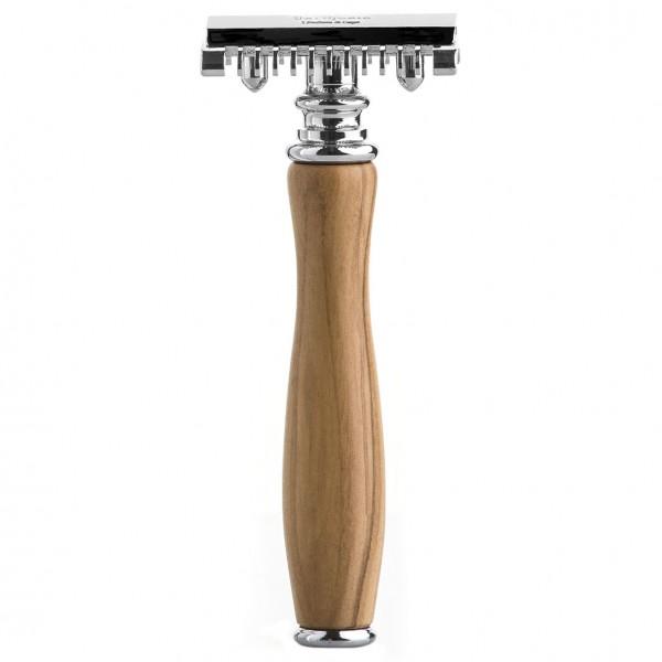 Barber Line Rasierhobel - Griff aus Olivenholz