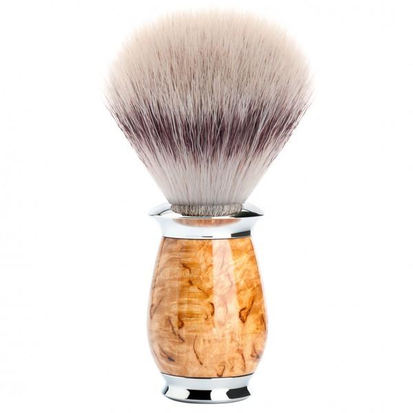 PURIST Rasierpinsel Silvertip Fibre® Griffmaterial Karelische Maserbirke