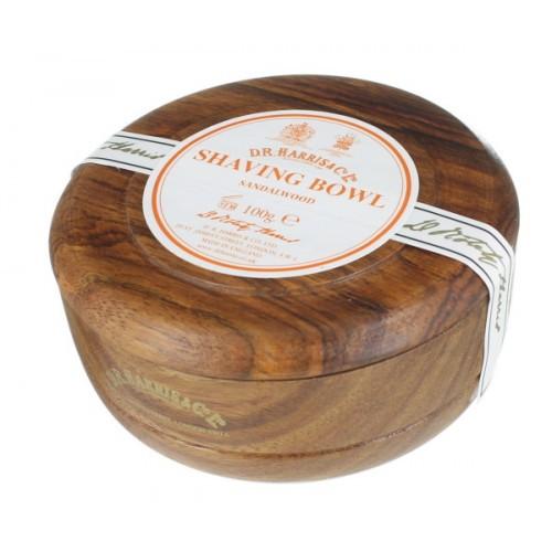 Sandalwood Shaving Soap in Mahogany Bowl