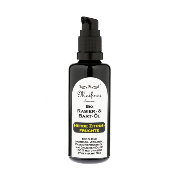 Bio Rasier- & Bart-Öl Herbe Zitrusfrüchte