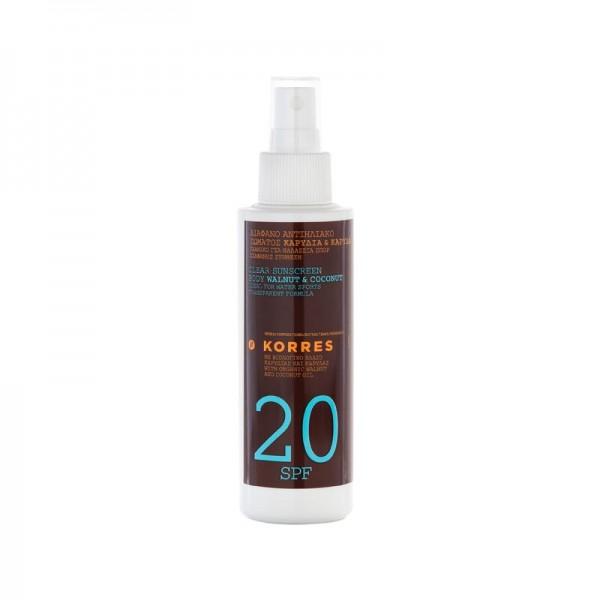 Korres Walnut  Coconut Sun Spray SPF 20