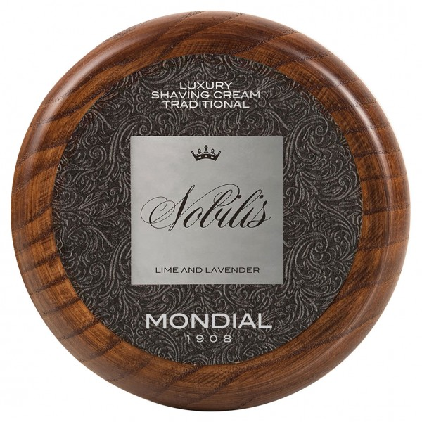 "Luxury Shaving Cream Traditional ""Nobilis"", 140 g Wooden Bowl"