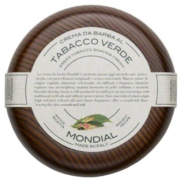 Tabacco Verde Rasiercreme im Holztiegel